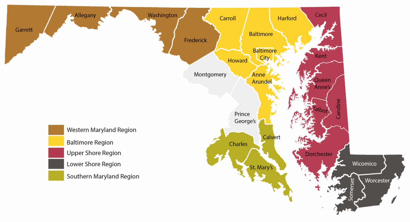 Maryland Coordinated Planning Regions